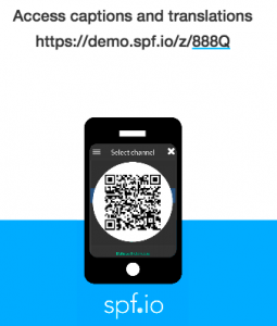 Example mobile link poster printable